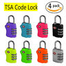 4 X TSA SECURITY 3 COMBINATION TRAVEL SUITCASE LUGGAGE BAG CODE LOCK PADLOCK NEW