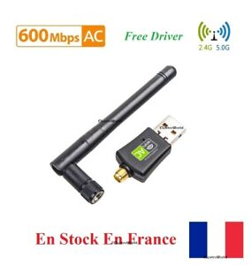 USB Wifi 600Mbps Drahtlos Dongle Dualband 2.4GHz/5GHz Free Driver Antenne AC831