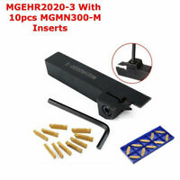 MGEHR2020-3 Lathe Turning Tool Holder Boring Bar + 10Pcs Insert For MGMN300-M BE