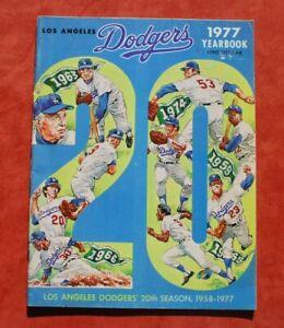 Original 1977 Los Angeles Dodgers Official Baseball Yearbook Pedro Guerrero EX