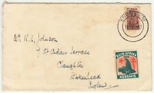 South Africa: WW2 Cover; Empangeni to Birkenhead, charity stamp, 14 Dec 1942