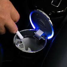 Car Ice Blue LED Light Up Ashtray Holder Smokeless Ash Cigarette Cylinder Cup