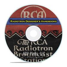 Radiotron Designer's Handbooks, RCA Call Logs, Servicing Tube Radios PDF DVD E71