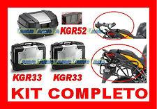YAMAHA XT 660 Z TENERE' KIT 3 VALIGIE KGR33 + KGR52 + TELAIO PL363 + RACK E333