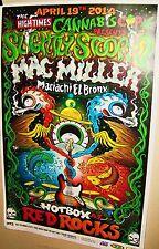 Slightly Stoopid & Mac Miller in Concert Show Poster Denver Co Red Rocks Cool