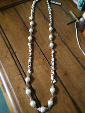 ANN TAYLOR PEARL AND RHINESTONE NECKLACE NEW WITH TAGS