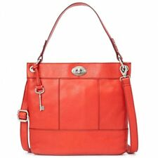 FOSSIL HUNTER TOMATO LEATHER HOBO SHOULDER CROSSBODY BAG HANDBAG