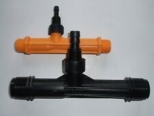 "Two x Venturi Air / Fluid Injectors - 1/2"" Yellow + 3/4"" Black Brand-New Unused"