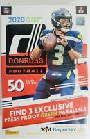 2020 Donruss Football Hanger Box Rated Rc Optic Press Proof Green Tua Joe ?