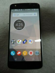 Black Droid Moto Z Play Cracked Screen Type XT1635-01 Works Great!