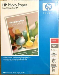HP Photo Paper Q6549A Laser Matte 8.5x11 52 lb 8 Mil 112 Brightness 100 Sheets