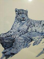 B L Marris Snow Leopard Poster Framed
