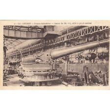 LE CREUSOT 40 usines schneider canon de 320mm écrite 1917