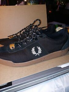 Fred Perry, black WOMENS Shoes size 7 Black, SPOTTED SOLE, CORDURA BRAND FABRIC