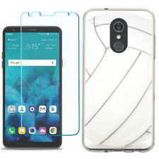 TPU Phone Case for LG Stylo 5 w/ Tempered Glass - Volleyball
