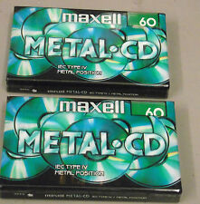 2 TAPES  Maxell Metal CD C60 type IV 4 position new blank audio cassette tape