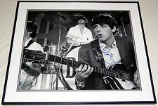 PAUL MCCARTNEY BEATLES HAND SIGNED AUTOGRAPHED FRAMED 16X20 PHOTO! RARE! W/PROOF