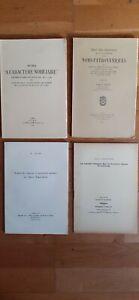 généalogie héraldique lot de dix livres Armorial noblesse blason onomastique