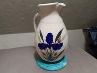 Vintage studio pottery pitcher jug vase signed by John Herbon
