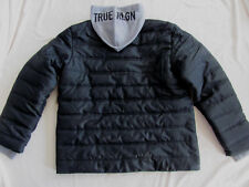True Religion Puffer U Jacket w/ Removable Hood -Black & Grey-Men's 2XL-NWT $269