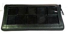 new GEMSTONE Diamond Display Storage black Case Pouch 10 Plastic Boxes