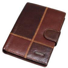 New Mens Leather Clutch Wallet Travel Passport Holder Purse 15 Card Slots J562