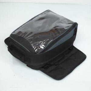 Sacoche de réservoir moto aimantée souple en textile noir extensible neuve