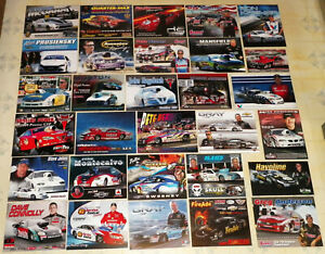 """""""GIANT"""" COLLECTION OF """"100"""" DIFFERENT IHRA/NHRA PRO STOCK DRAG RACING HANDOUTS!!"""