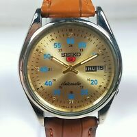 Vintage Seiko Automatic Movement Day Date Dial Mens Wrist Watch C132