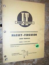 UP TO 1966 MASSEY FERGUSON MF25 MF-130 TRACTOR I&T SHOP SERVICE MANUAL