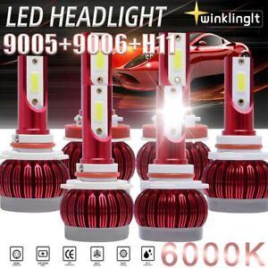 Combo 9005+9006+H11 LED Headlight Hi/Low Beam Bulb 6500K 360W 980000LM Fog Ligh