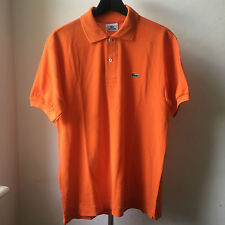 Très cool LACOSTE Hermes Orange Polo Shirt Sz 3 L .12 .12 classic fit