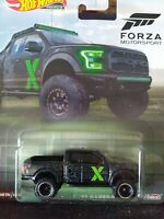 Hot Wheels Forza Motorsport'17 Ford F-150 Raptor real riders. Pickup.mint Card