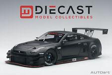 AUTOART 81580 NISSAN GT-R NISMO GT3 (MATT BLACK) 1:18TH SCALE