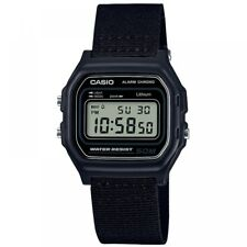 Casio W-59b-1avef Casual Digital Watch With Black Case & Cloth Strap 50mtr WR
