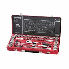 Sidchrome SOCKET SET 1/4 & 1/2 Inch Drive 60 Pieces, Torqueplus RED *Aust Brand