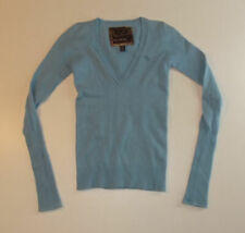 WOMENS ABERCROMBIE&EZRA FITCH JUMPER SWEATER CASHMERE BLUE XXS NEW RETAIL $299