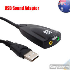 5HV2 USB Headset Adapter Cable Sound Card Headphones Converter Microphone