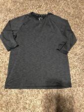 Mens Nike 3/4 Length Sleeve Gray Shirt Size Med