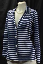 ESCADA SPORT Knit Blazer Boyfriend Jacket nautical cardigan sweater coat L VTG