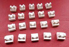 Lego (2555) 20 Platten 1x1 mit Clip oben, in weiß aus 4746 41015 4477 5550