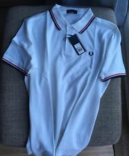 Fred perry camisa Polo Blanco Grande