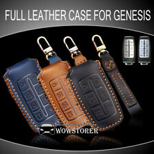 Leather Full Sealed Case Cover Bag Fit for Genesis GV70/80/90 Key Fob Remote