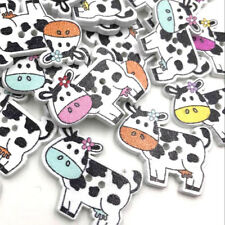 Cartoon Wooden Cows shape buttons 2-holes sewing crafts Scrapbooking 27mm WB419