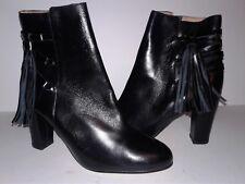 Halogen Black Fringe Ankle Boots Size 9 NEW