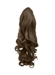 "22"" PONYTAIL Clip in Hair Piece WAVY Light Brown #12 Claw Clip"