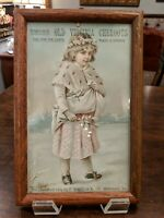"""OLD VIRGINIA CHEROOTS CIGARS ADVERTISING CARD,  P WHITLOCK CO. 1800S """"RARE"""""""
