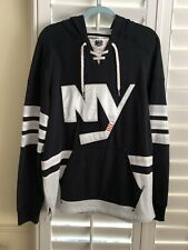 Islanders Black Alternate Jersey Hooded Sweatshirt - M