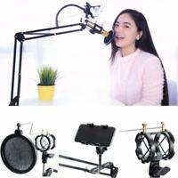 360° Microphone Suspension Boom Scissor Stand Phone Holder For Broadcast Studio