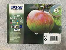 original Epson Multipack T1295 Tintenpatronen T1291 T1292 T1293 T1294 Apfel OVP